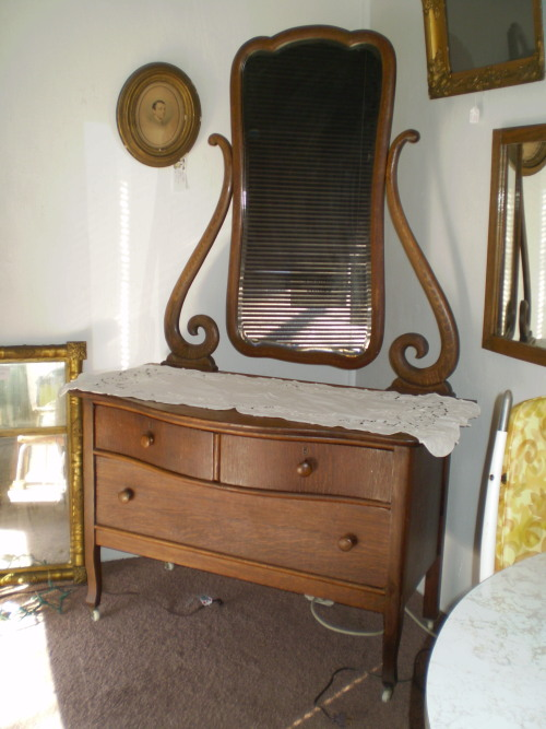 Early 1900s Oak Princess Dresser The Place