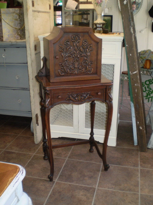 Antique Telephone Table with drawer, Circa 1920. Excellent Condition,  Original Finish – SOLD - Antique Telephone Desk Antique Furniture